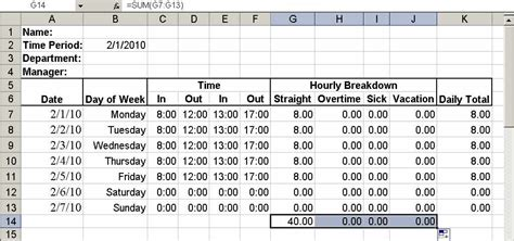 build a simple timesheet in excel techrepublic