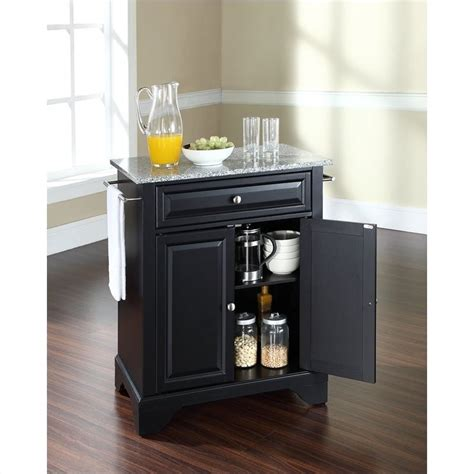 crosley furniture kf30003bwh lafayette solid granite top crosley furniture lafayette solid granite top kitchen
