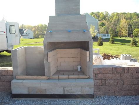 Outdoor Fireplace Cinder Block by Concrete Block Outdoor Fireplace Plans Home Design Ideas