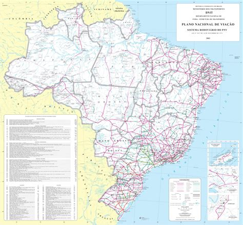 road map of large detailed road map of brazil brazil large detailed