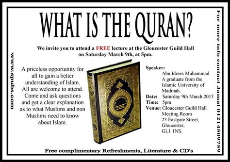 What Is The Live What Is The Qur An Abu Idrees Saturday March 9th