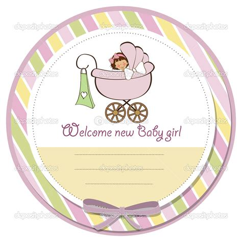 personalised embroidered new baby girl card nbgc007 by