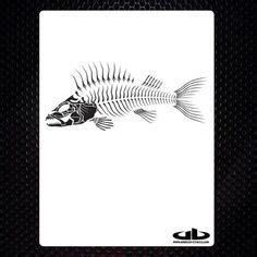bone fish 4 airbrush stencil template motorcycle chopper paint wheat stencil