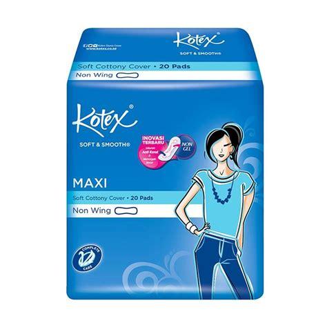 Kotex Soft Smooth Maxi Non Wing Daun Sirih 20 Pcs jual kotex soft smooth maxi plus non wing pembalut wanita 20 pads harga kualitas