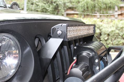 Jeep Light Bar Mount Jk 21 5 Quot Grill Mount Package Dual Row Led Lights Led