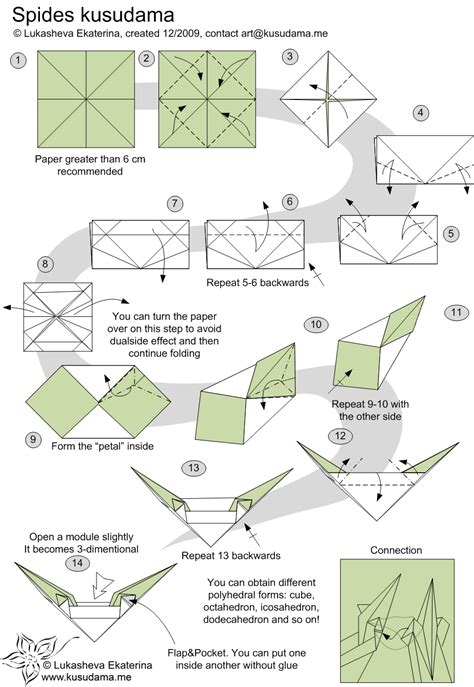 Origami Diagrams Compound Of Dodecahedron And Great - kusudama me modular origami spides unit