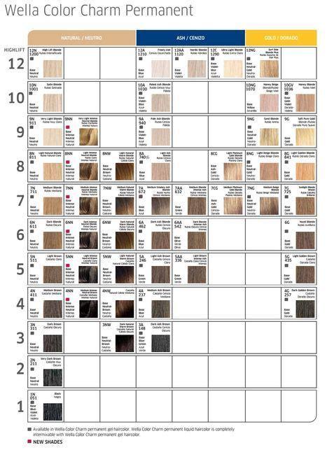wella color charm toner chart best 25 wella color charm toner ideas on pinterest