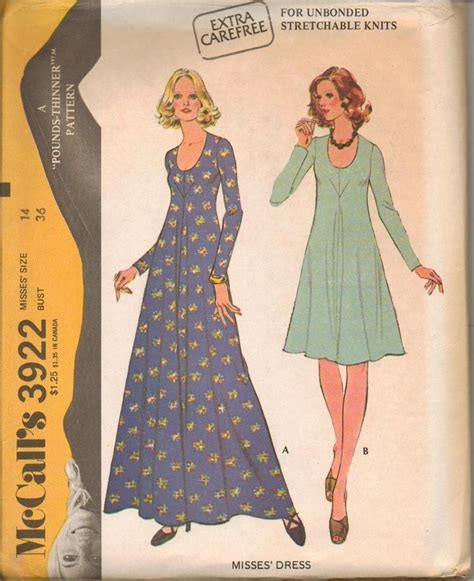 vintage mccalls pattern vintage 1970 s mccalls sewing pattern misses size 14 bust