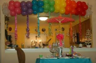 Birthday Decoration Ideas At Home With Balloons Rainbows And Sparkles Birthday Ideas Birthdays