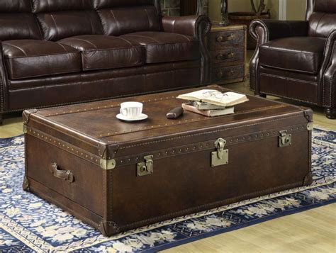 leather trunk coffee table coffee table design ideas