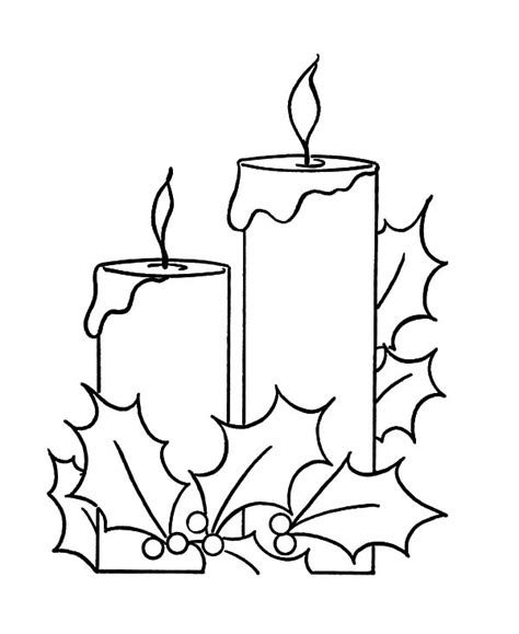 Holy Night Christmas Candle Coloring Pages Download Tree With Candles Coloring Page