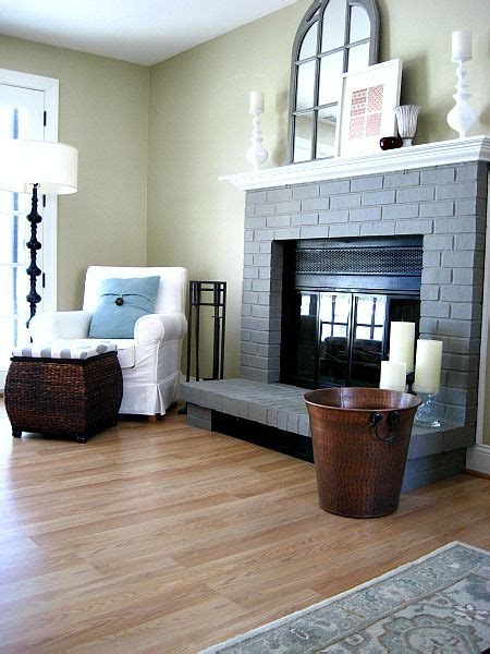 17 best ideas about painted brick fireplaces on