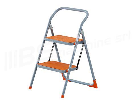 sgabello scaletta sgabello scala scaletta pieghevole acciaio 2 gradini