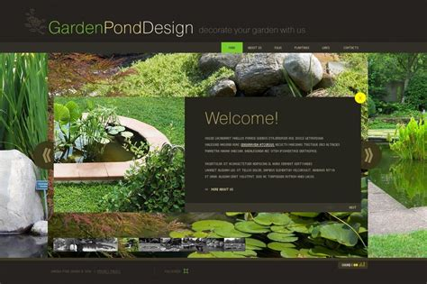 garden design flash template 29552