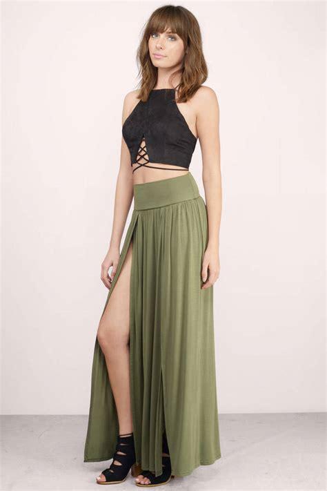 Maxi By olive skirt green skirt slit skirt 20 00