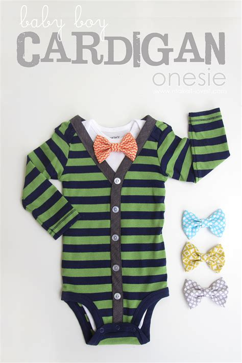diy baby onesie with a bow tie free card template cardigan bow tie onesie diy aztec sweater dress