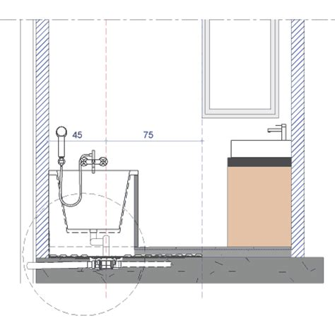 Raccordement Baignoire by Installation Sous La Baignoire D Un Siphon De Sol Haut