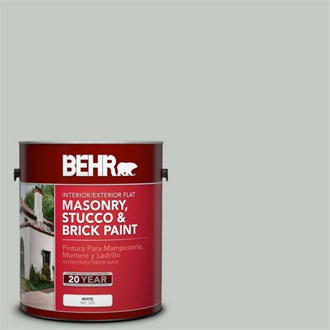 behr premium 1 gal ms 66 new grey flat interior exterior masonry stucco and brick