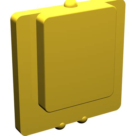 Lego Part Yellow Window 1 X 2 X 3 Pane With Thick Corner Tabs lego yellow glass for window 1 x 2 x 2 plane 4862 brick owl lego marketplace