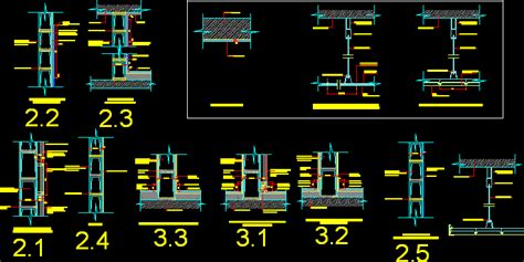 Drop Ceiling Detail Dwg by Drop Ceiling Details In Autocad Drawing Bibliocad