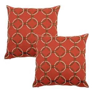 surya filled decorative pillows rust brown p0162