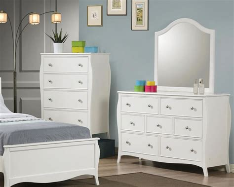 white bedroom dresser with mirror white twin or full size youth bed