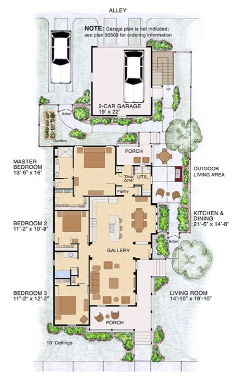 narrow lot cottage plans 16 best images about narrow lot house plans on pinterest