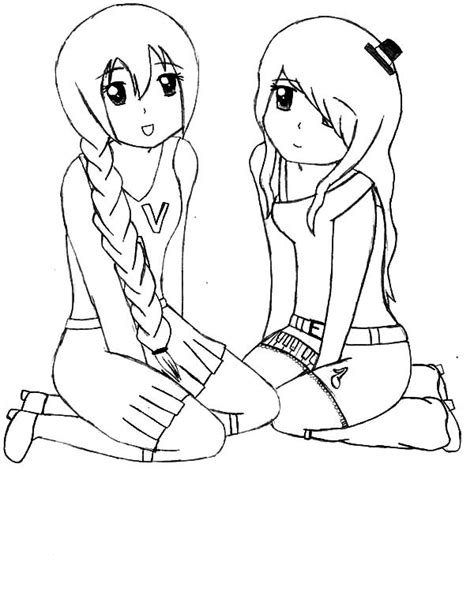 coloring pages with friends utau and nana best friends coloring pages best place to