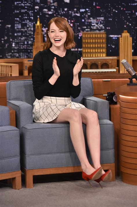 emma stone tv shows emma stone visits the tonight show zimbio