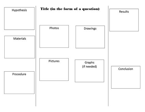 Science Project Template Science Project Board Outline Pictures To Pin On