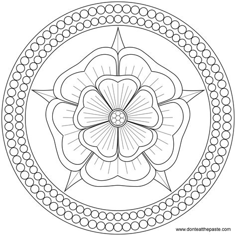 mandala coloring pages roses don t eat the paste and pearls mandala