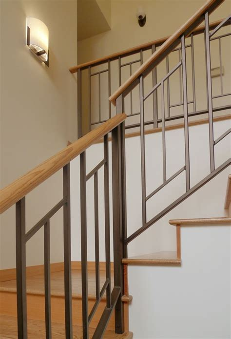 stairway banister ideas mid century modern sixties makeover live work play