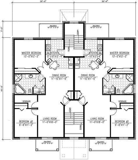 6 plex floor plans six plex multi family house plan 90153pd architectural