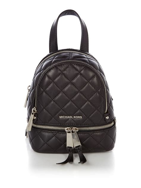 Tas Ransel Michael Kors Mk Rhea Mini Backpack Original michael kors rhea zip medium backpack in black lyst