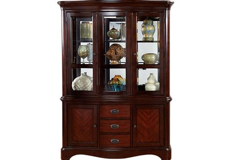 Hutch Dining Room by Granby Merlot 2 Pc China Cabinet China Cabinets Dark Wood