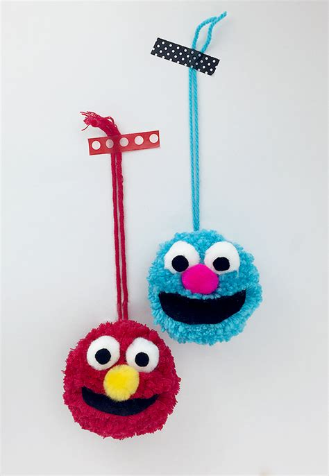 pbs crafts for sesame muppet pom pom crafts for pbs parents