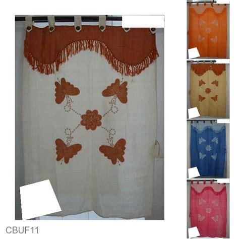 Gorden Batik Etnik Pekalongan gorden jendela tenun motif kupu tari tirai jendela murah batikunik