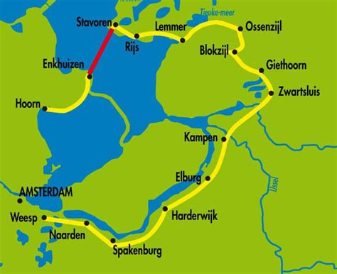 horn netherlands map bravo bike lake ijssel self guided bike tour with