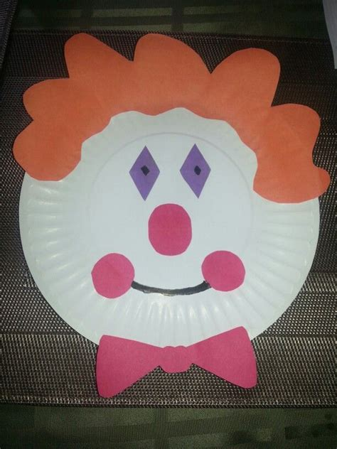 clown paper plate craft 1000 images about clown on carnival crafts