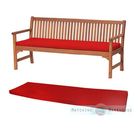 red patio bench outdoor waterproof 4 seater bench swing seat cushion