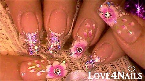 imagenes de uñas acrilicas para graduacion decoracion de u 241 as para novia tutorial youtube