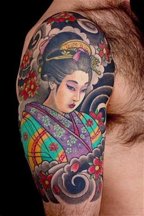 tattoo geisha braccio significato tatuaggi giapponesi bellissimi il loro significato foto