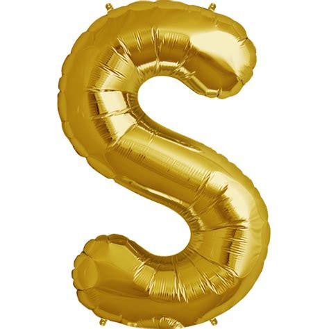 D 40cm Air Balloon ballon forme alu ballon aluminium lettre s or 40 cm