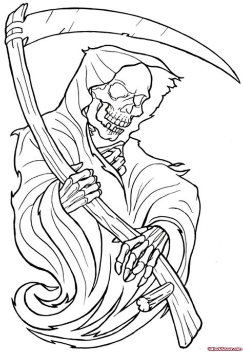 outline tribal tattoo nightmares grim reaper joker tattoos