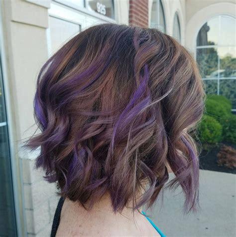 best purple shoo for highlights purple highlights for brown hair www pixshark com