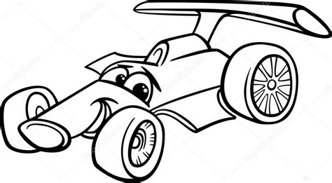 coloring pages of stock cars corse auto bolide da colorare vettoriali stock