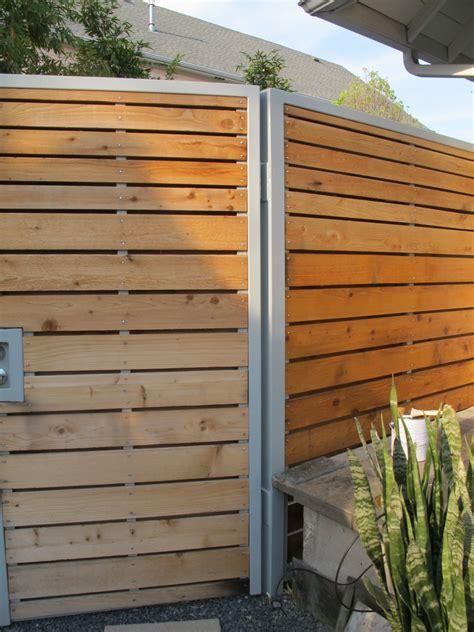 modern cedarsteel  powder coated aluminum fence