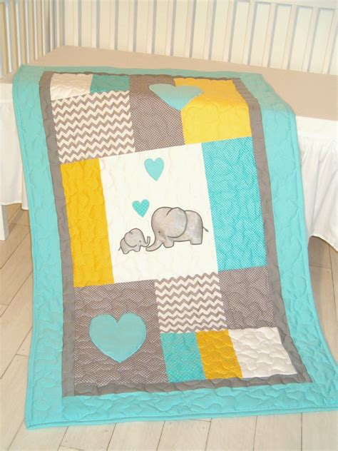 Quilts And Blankets by Elephant Blanket Elephant Quilt Blanket Aqua Gray Chevron
