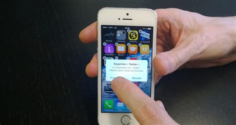 ios 7 sur iphone 5s comment supprimer une application