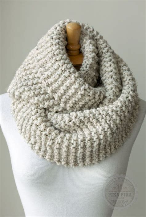 how to knit an infinity scarf knit scarf chunky knitted infinity scarf in by